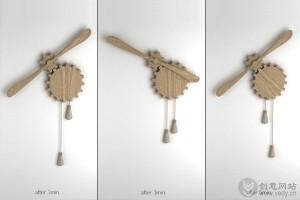 创意家居装饰性的齿轮风扇