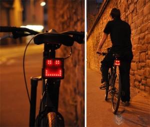 创意自行车上的表情指示灯
