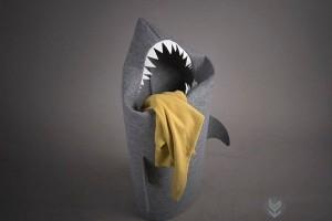 鲨鱼造型的创意赃衣篮收纳篓