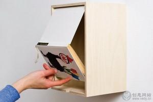 用书籍等旧物改造的创意收纳盒