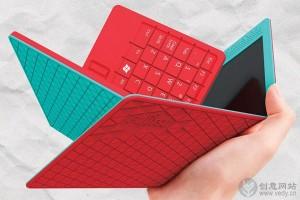 可以二次折叠的便携式创意笔记本电脑
