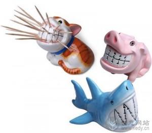 卡通动物形象的创意牙签盒