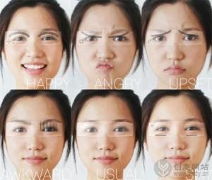 可以显示面部表情的智能眼镜设计