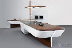 轮船一样的梦幻创意厨台设计
