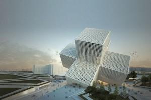 充满几何感的双十字异形建筑创意设计