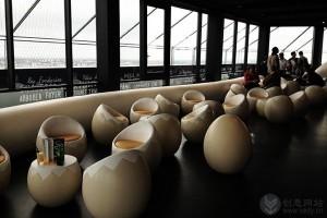 创意室内装修的鸟巢酒吧设计