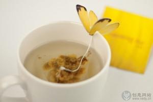 花蝴蝶样式的创意茶叶包