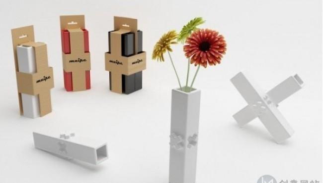 自由拼接模块化的创意花瓶设计