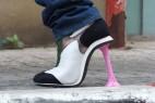 口香糖样式的高跟鞋