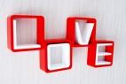 LOVE字体创意格子壁挂架