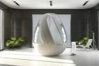 鸡蛋形状的沐浴系统