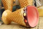 彩绘缤纷色冰淇淋陶瓷水杯