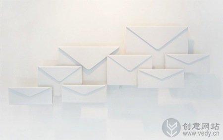 创意信封样式的书报杂志架