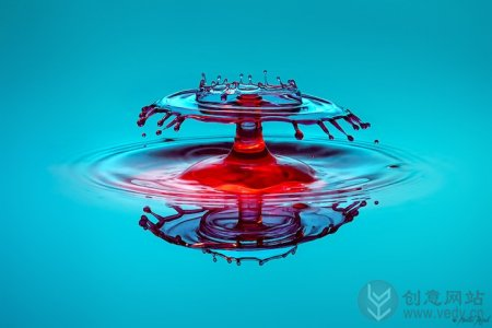 水滴飞溅的水花创意摄影照片