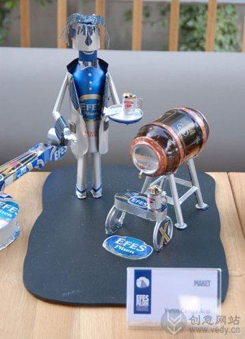 易拉罐DIY手工制作的创意艺术作品