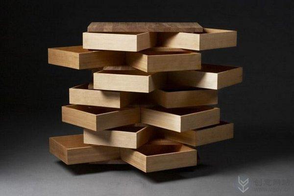 多个抽屉组合而成的创意收纳柜(三)