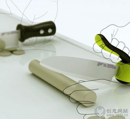 把手可以反转的创意刀具