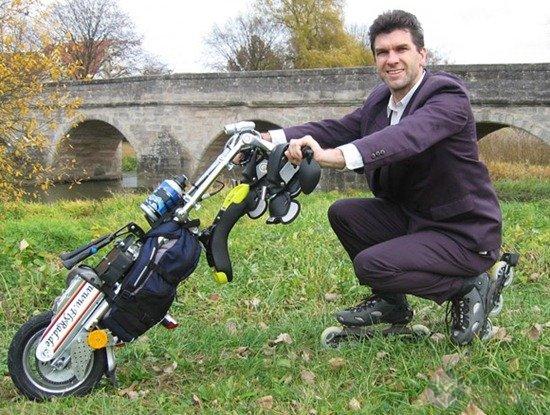 独轮创意的电动摩托车