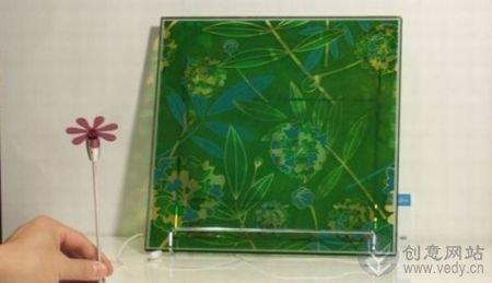 节能环保创意的彩色太阳能玻璃
