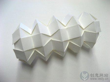 创意折纸艺术的三维折纸秀