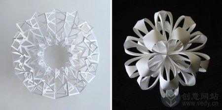 精美的几何创意折纸作品