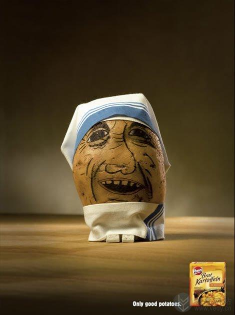 Pfanni 土豆的创意广告设计