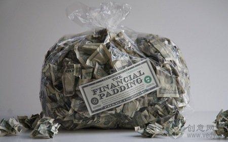 纸币做的礼物包裹填充物