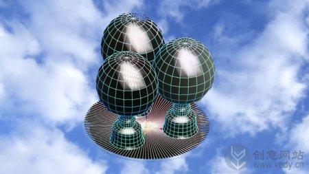 """辐射计创意的太阳能""""吊灯"""""""