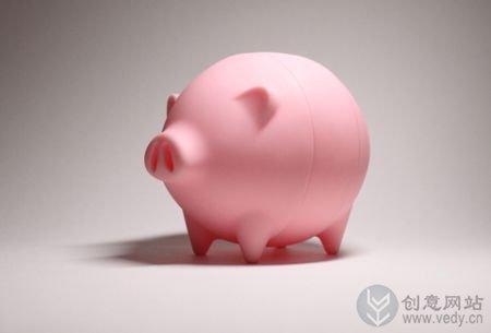 """可以""""长大""""的小猪创意存钱罐"""