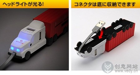 卡通卡车造型的创意集线器