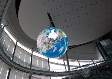 三维地球仪的OLED创意显示屏