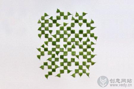 有趣水果摆设而成的图形创意设计