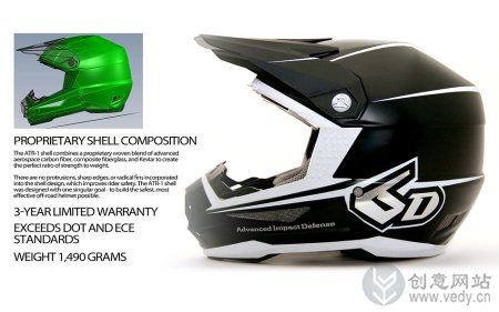吸盘式碟状减震装置的摩托车头盔