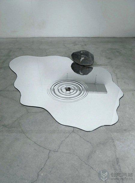 动感水滴造型的有机玻璃创意镜子