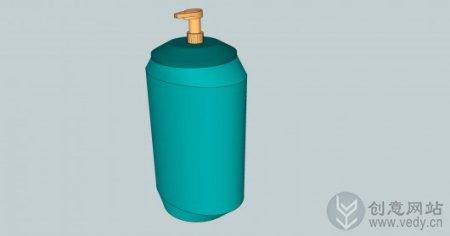 节能环保创意的零浪费按压瓶