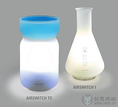 通过挥手智能控制的创意灯具设计