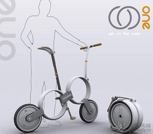 可折叠的Q版创意自行车