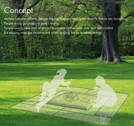 餐使用的模块化创意充气垫