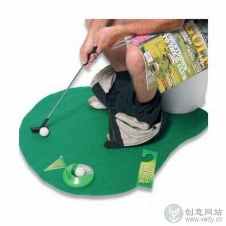 在厕所打高尔夫的创意小玩意