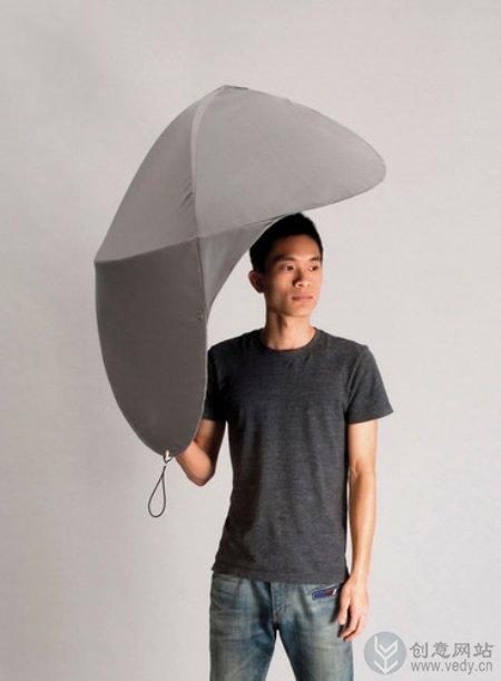 新奇特的L形状创意雨伞设计
