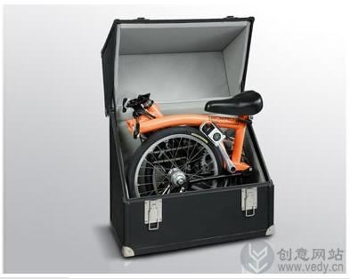 放在箱子里面的自行车