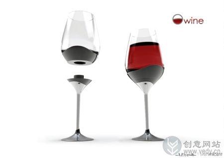 可组装的创意酒杯设计