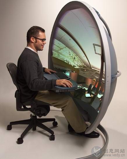 视效仿真的3维显示系统