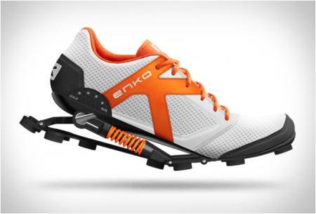 带缓冲弹力装置的创意跑步鞋设计