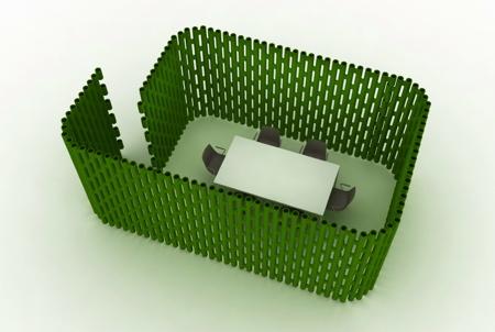 新材料的创意室内屏风隔断装饰
