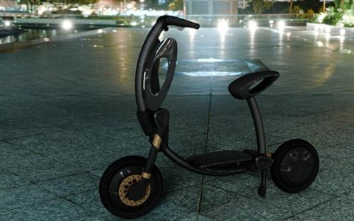 折叠创意的电动自行车