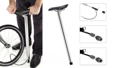 自行车座与打气筒完美结合的创意设计