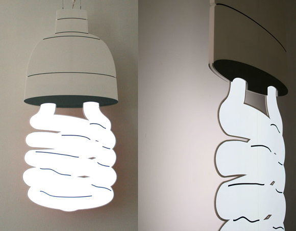 二维和三维结合的LED照明雕塑