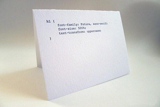用代码写出来的节日卡片创意设计