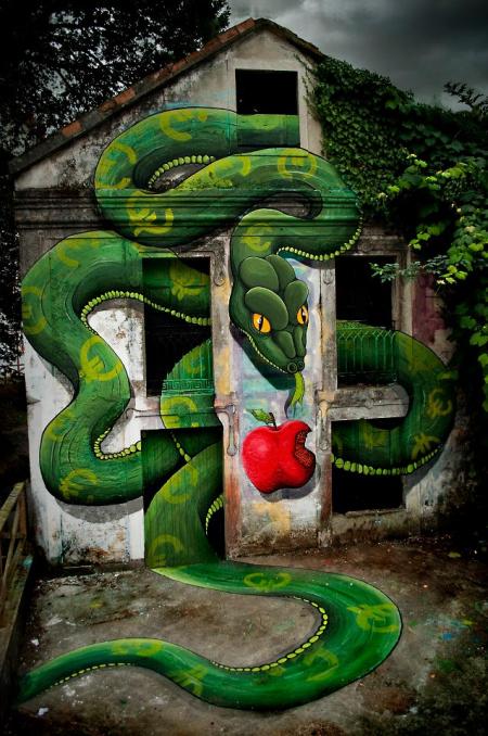巨型街头涂鸦手绘创意